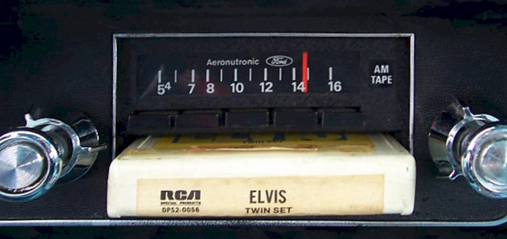 Eight track tape player with Elvis tape