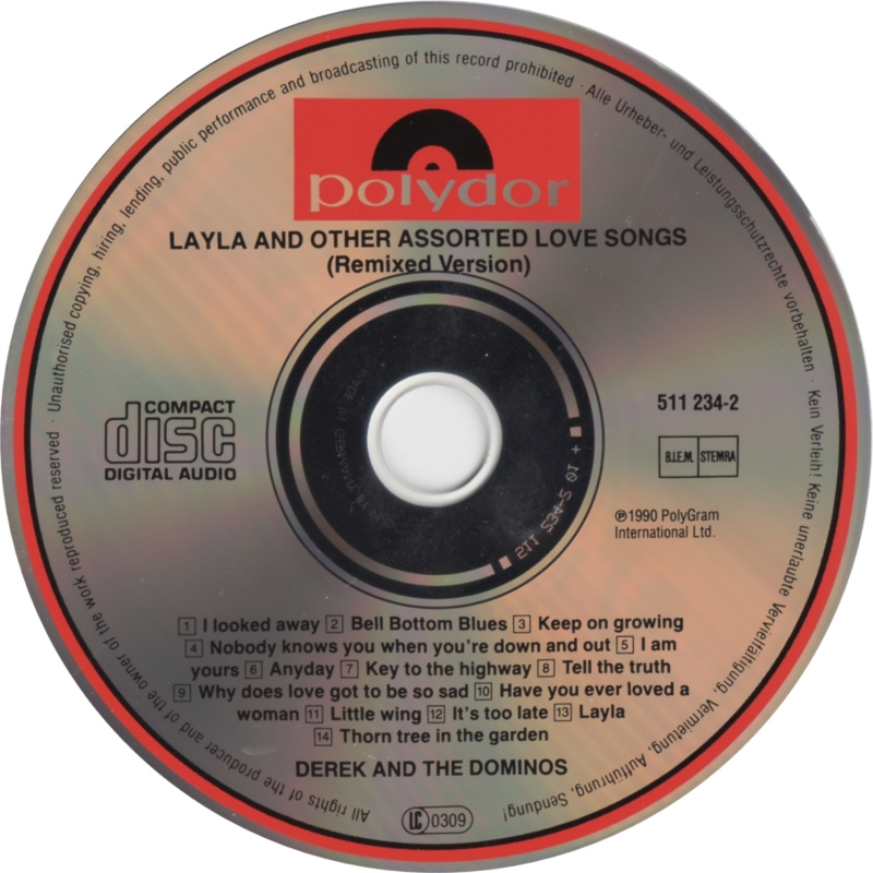 Layle and Other Assorted Love Songs CD